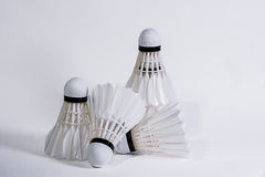 Shuttlecock. (English:  also called bird or birdie) [1] is to hit the ball, which has a high resistance. For use in badminton This is a funnel-shaped opening Stock Image