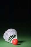shuttlecock för badminton 2 arkivfoton