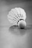 shuttlecock för racquet för badmintonbollspel inomhus Arkivbilder