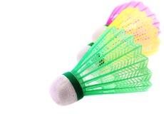 Shuttlecock für Badminton Stockfotos