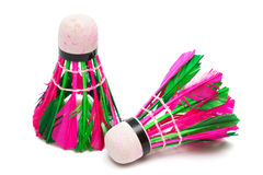 Shuttlecock with feathers Royalty Free Stock Image