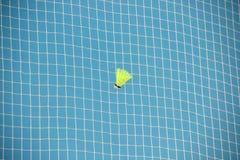 shuttlecock in a grid badminton stock photo