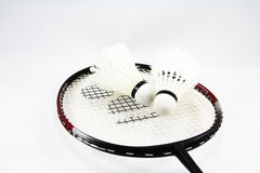 Shuttlecock i badminton Zdjęcia Royalty Free