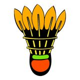 Shuttlecock icon, icon cartoon Royalty Free Stock Image