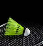 Shuttlecock och badminton royaltyfri fotografi