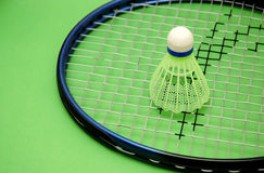 Shuttlecock and racket royalty free stock image
