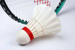 Shuttlecock and racket Royalty Free Stock Photography