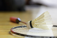 Shuttlecock and Racket badminton Royalty Free Stock Photography