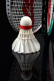Shuttlecock and rackets Royalty Free Stock Images