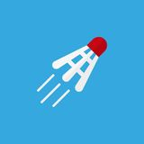 Shuttlecock vector icon Royalty Free Stock Photos