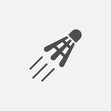 Shuttlecock vector icon Stock Images