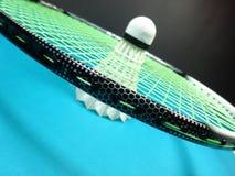 Shuttlecock w badminton kancie Obraz Royalty Free