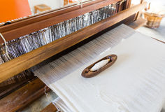 Shuttleless loom working Royalty Free Stock Photography