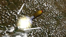 Shuttleprodukteinführung Stockfoto