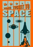Shuttleprodukteinführung zum Kosmos Lizenzfreie Stockfotos