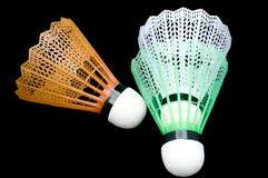 Shuttlescocks do Badminton fotos de stock royalty free
