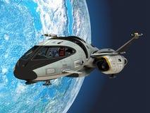 Shuttlestar in Aardebaan Stock Afbeeldingen