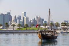 Shuwai dans la lagune de musée de Doha photographie stock libre de droits