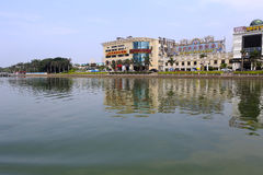 Shuyou海鲜餐馆yundanghu分支 免版税库存照片