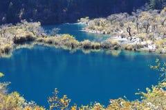 Shuzheng lakes i Jiuzhaigou arkivfoton