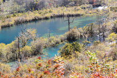 Shuzheng lakes in Jiuzhaigou Stock Images