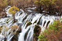 Shuzheng waterfall jiuzhaigou scenic Royalty Free Stock Photos