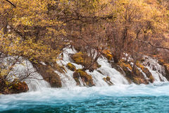 Shuzheng waterfall jiuzhaigou scenic Stock Photo