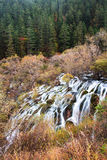 Shuzheng waterfall jiuzhaigou scenic Royalty Free Stock Photos