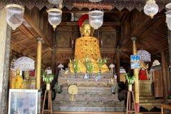 Shwe严Pyay修道院菩萨图象, Nyaungshwe,缅甸 库存图片