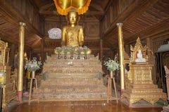 Shwe严Pyay修道院 免版税库存图片