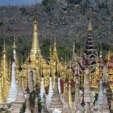Shwe旅馆Thein寺庙- Ithein -缅甸 免版税库存图片