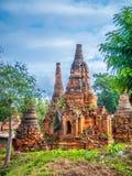 Shwe austerii Thein pagody kompleks zdjęcie stock