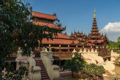 Shwe In Bin Kyaung Monastery Royalty Free Stock Image