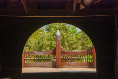 Shwe In Bin Kyaung is wooden teak monastery in Mandalay, Myanmar. Burma Stock Image