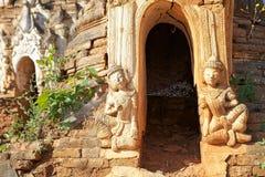 Shwe gästgivargårdDain Pagoda komplex Royaltyfri Bild