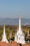 Shwe Indein塔 免版税库存图片