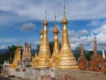 Shwe Indein pagoda Obraz Royalty Free