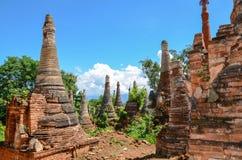 Shwe Indein Pagoda in Inle Lake, Shan State, Myanmar Stock Photo
