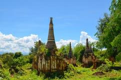 Shwe Indein Pagoda in Inle Lake, Shan State, Myanmar Royalty Free Stock Image