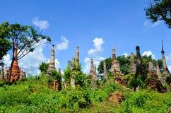 Shwe Indein Pagoda in Inle Lake, Shan State, Myanmar Royalty Free Stock Photo