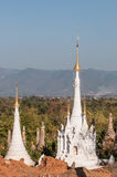 Shwe Indein Pagodas. A group of stupas in Shwe Indein near the Inle lake in Myanmar Royalty Free Stock Image