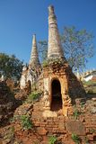 Shwe Inn Dain Pagoda complex. Indein village, Inle Lake, Myanmar. Shwe Inn Dain and its 1054 pagodas history is shrouded in mystery: Myanmar historical records royalty free stock photos