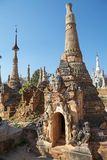 Shwe Inn Dain Pagoda complex Royalty Free Stock Images