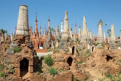 Shwe Inn Dain Pagoda complex Royalty Free Stock Photography