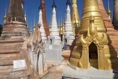 Shwe Inn Dain Pagoda complex Stock Photo