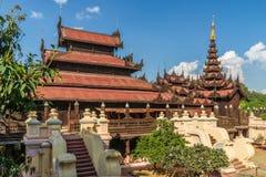 Shwe在容器Kyaung修道院里 库存图片