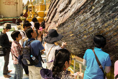 Shwe MawDaw pagod Myanmar eller Burma Royaltyfria Bilder