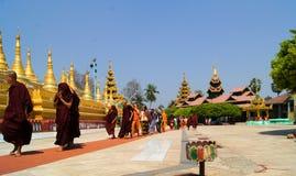 Shwe MawDaw pagod Myanmar eller Burma Arkivfoton