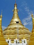 Shwe Muay Wan Temple. Shwe Muay Wan Paya is a Myawaddy's most important temple,a traditional bell-shaped stupa gilded with many kilos of gold and topped by more stock images