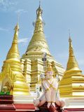 Shwe Muay Wan Temple. Shwe Muay Wan Paya is a Myawaddy's most important temple,a traditional bell-shaped stupa gilded with many kilos of gold and topped by more royalty free stock image
